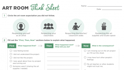 How to Use a Think Sheet for Better Classroom Behavior