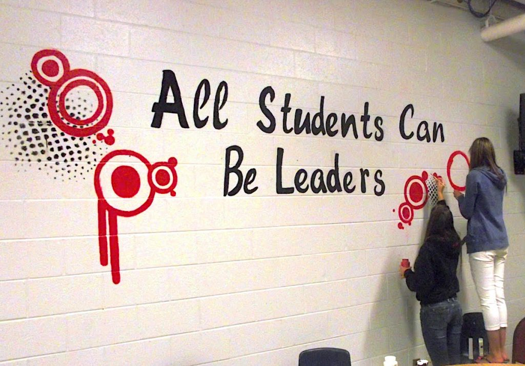 mural All Students Can Be Leaders