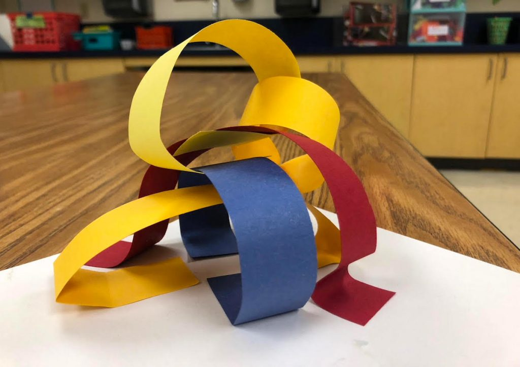 primary color paper sculpture