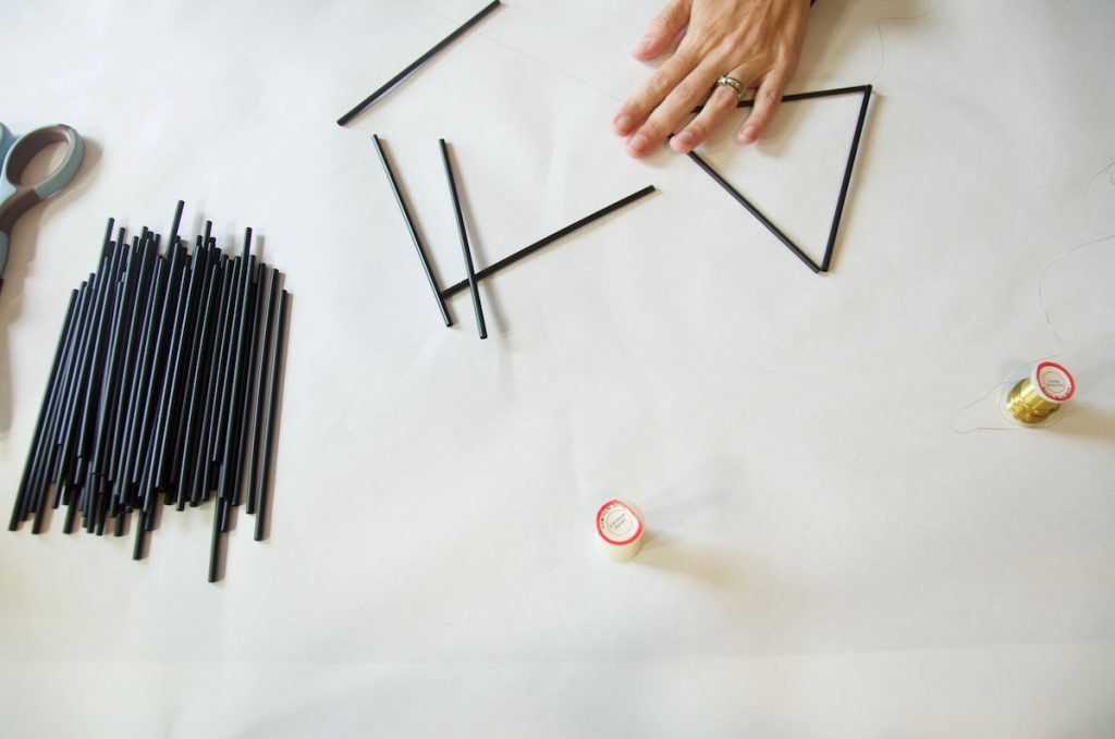 working with straws