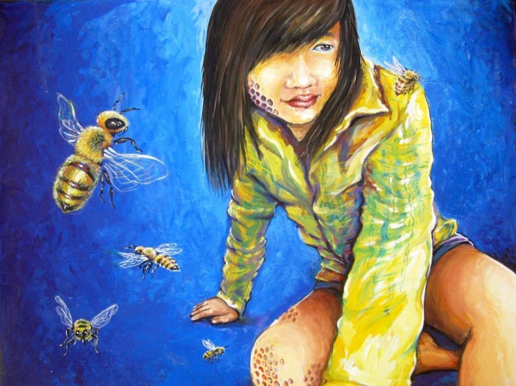 painting with insects