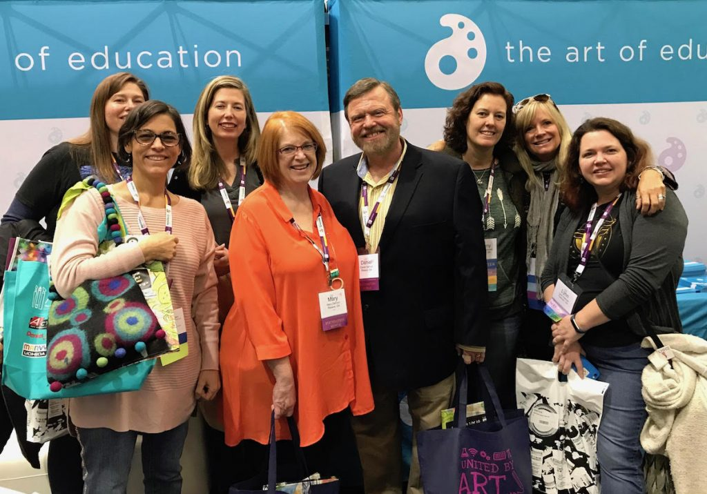 group of people at the NAEA convention