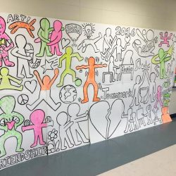 artwork inspired by Keith Haring