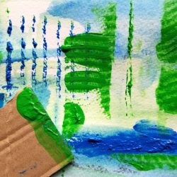 painting with cardboard