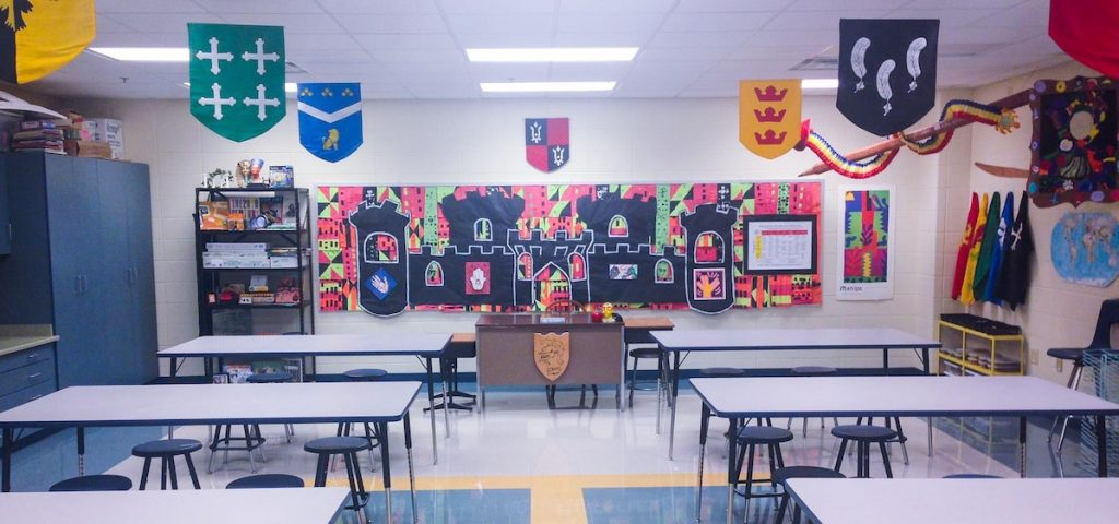 Art Classroom With Medieval Theme