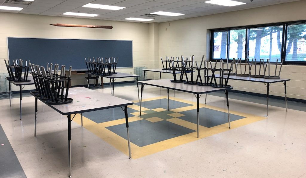 image of an empty art classroom