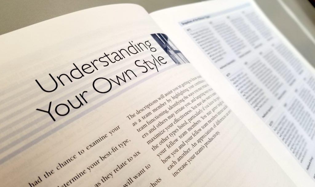 "book with title of ""understanding your own style"""