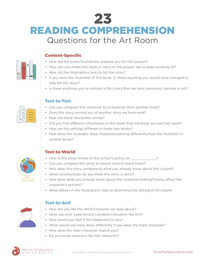 https://uploads.theartofeducation.edu/2020/01/63.223ReadingComprehensionQuestionsForArtRoom.pdf