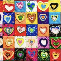 Felted heart artwork