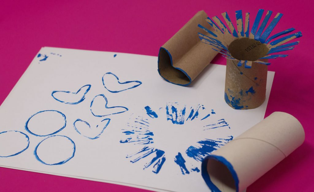 Toilet Paper rolls as stamps