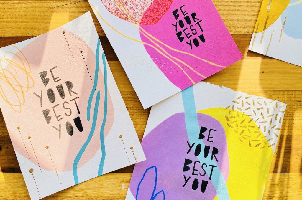"""cards that say """"be your best you"""""""