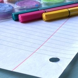 Notebook paper and pens