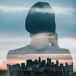 Double exposure portrait example