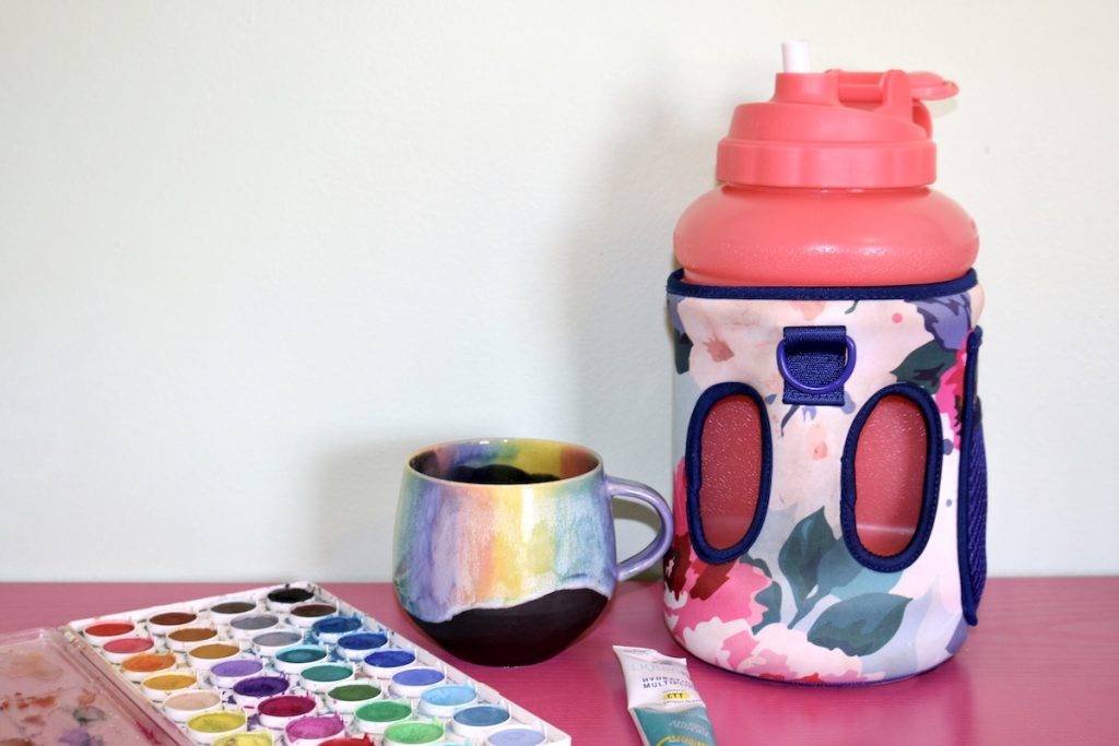 waterbottle and cup