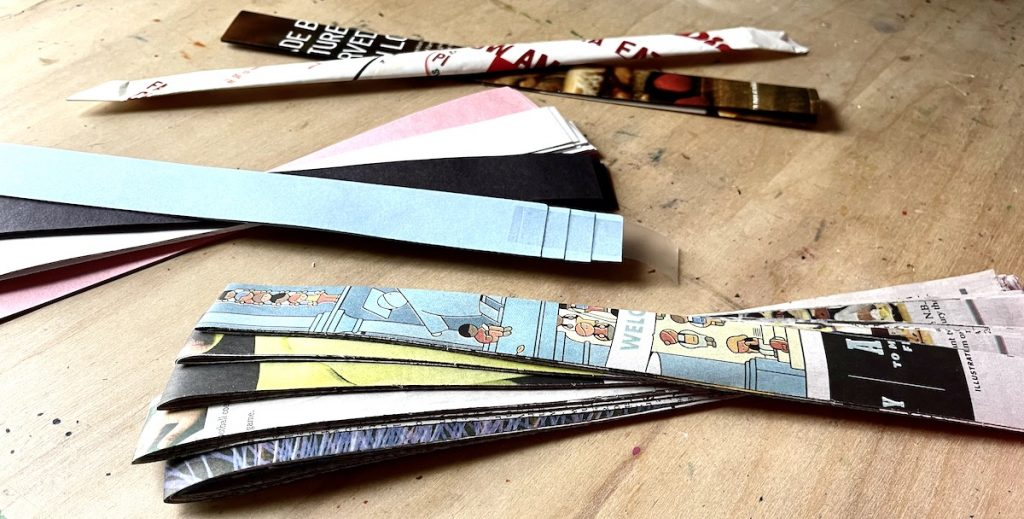 one inch paper strips