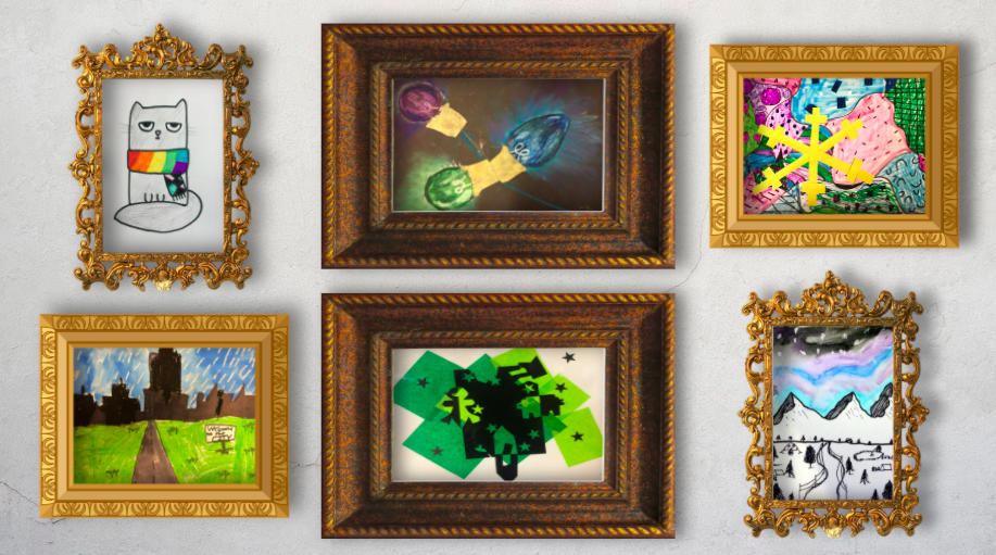 artwork on display in a virtual environment