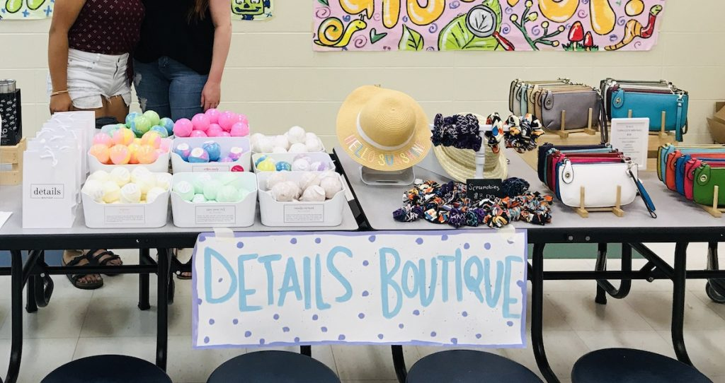 boutique items on display
